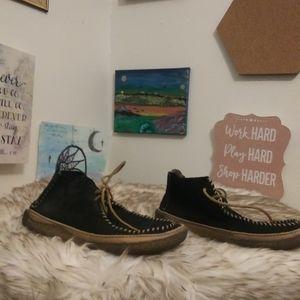 Clarks originals Black suede sock loafers